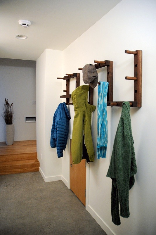 Functional Hallway Coat Rack