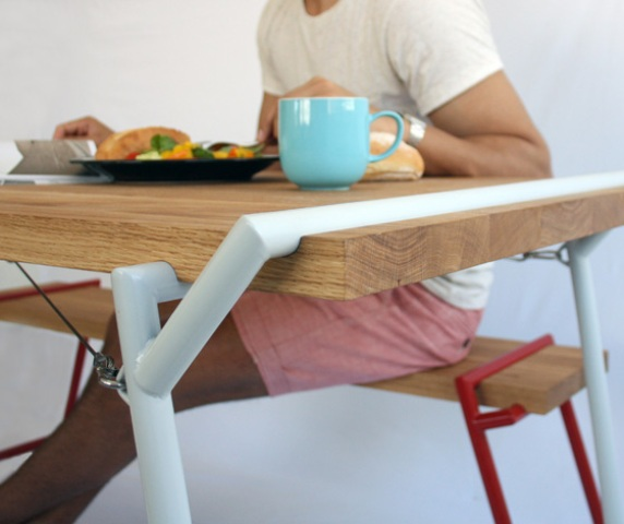Functional Industrial Atlas Dining Table And Desk In One