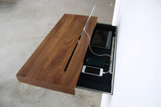 Functional Interactive Shelf For Devices
