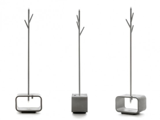Functional Lucciola Lamp Coat And Umbrella Stand