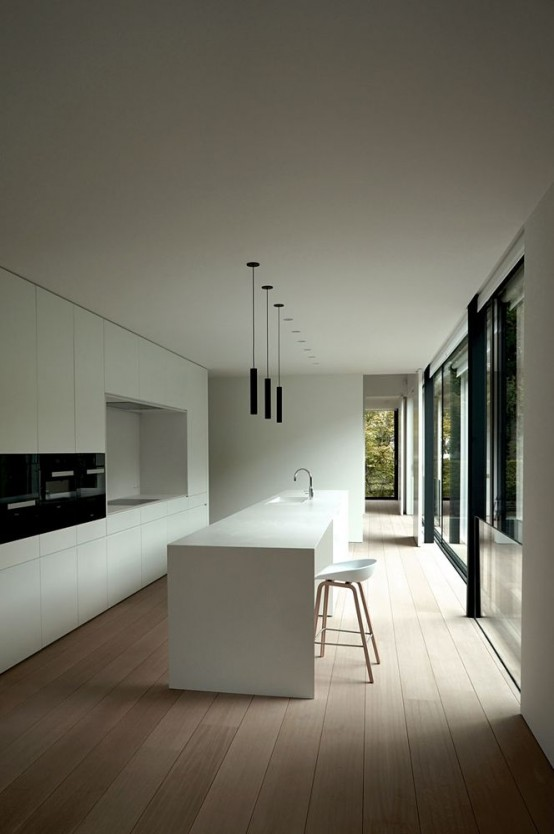 37 functional minimalist kitchen design ideas digsdigs for Deco minimaliste design