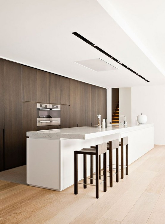 37 functional minimalist kitchen design ideas digsdigs - Prix cuisine bulthaup ...