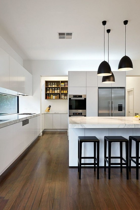 37 functional minimalist kitchen design ideas digsdigs - Minimal kitchen design ...