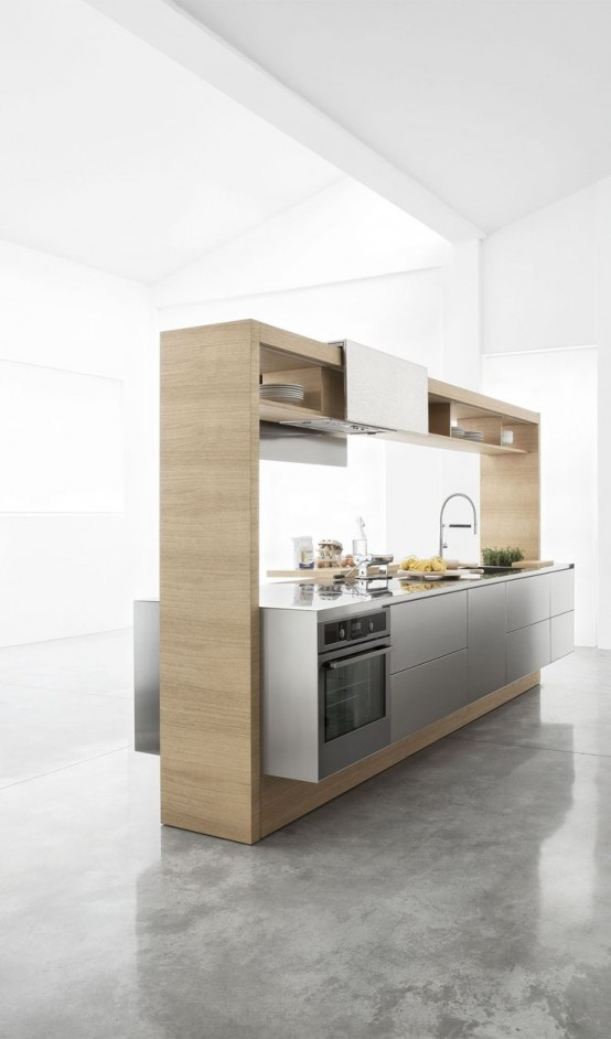 37 functional minimalist kitchen design ideas digsdigs for Kitchen set minimalist design