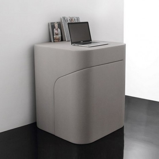 Functional minimalist seat and side table of foam digsdigs for Functional side table