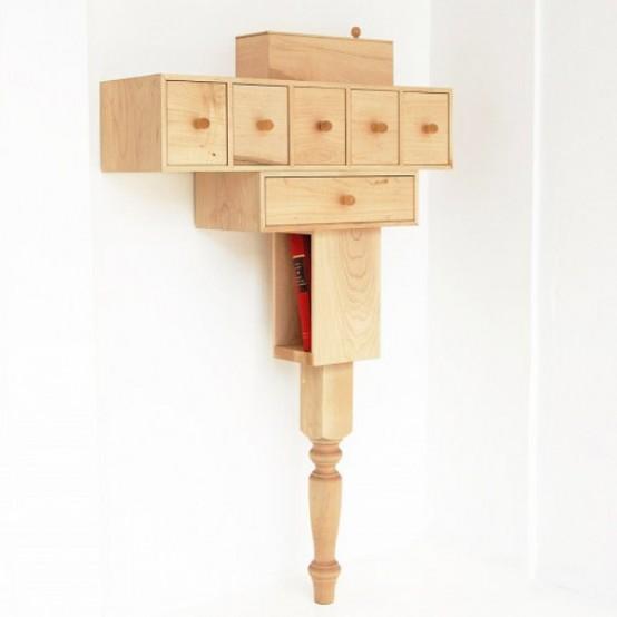 Functional Small Nightstand Of Maple Wood