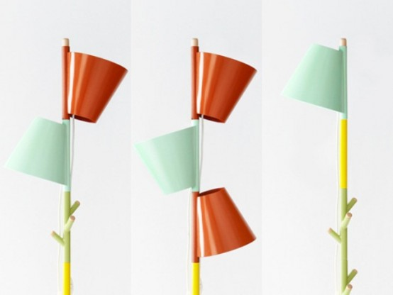 Functional Stacking Lamp With Coat Hangers