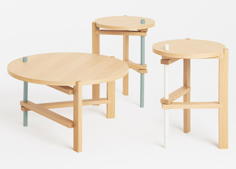 Functional Three Legged Table With Minimal Aesthetics