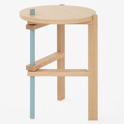 Functional Three Legged Table With Minimal Aesthetics