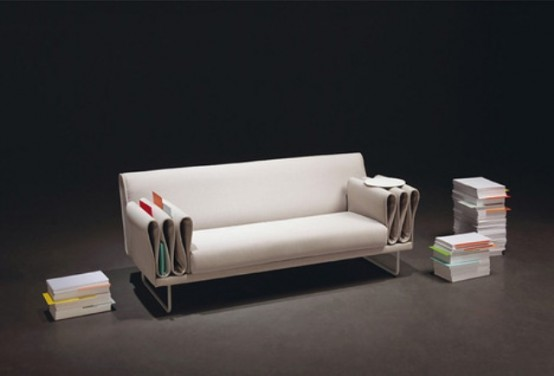 Functional Tri-Folds Sofa For Hiding Items