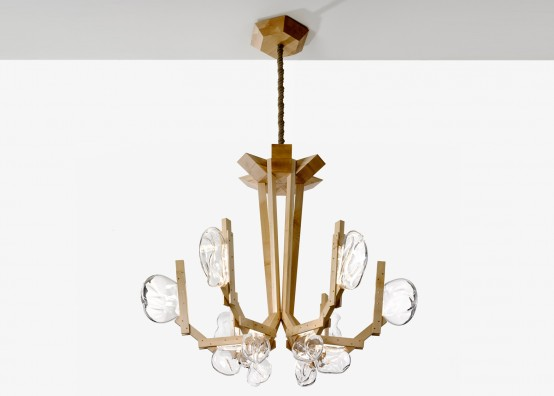 Fungo Chandelier Inspired By Mushrooms Growing On Wood
