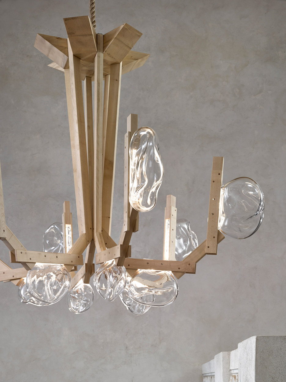 Picture Of fungo chandelier inspired by mushrooms growing on wood  3