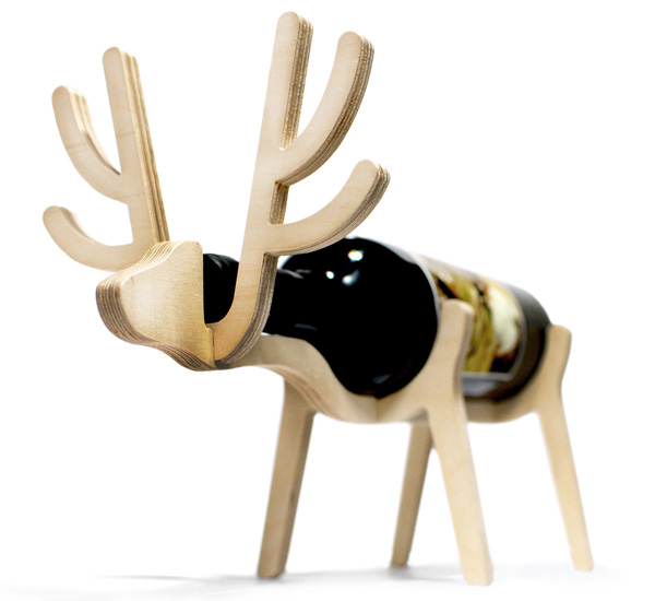 Funny Animal Wine Racks By Conte Bleu
