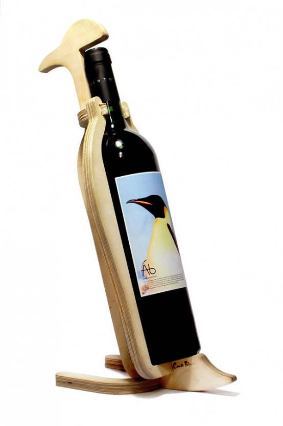 Funny animal wine racks by conte bleu digsdigs - Wine rack shaped like wine bottle ...