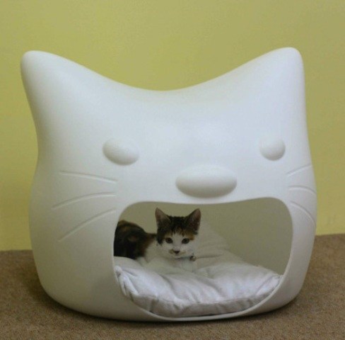 Funny Cat Bed And Stool In One Digsdigs