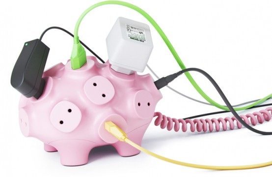 Funny Multi Snout Piggy For 17 Plugs