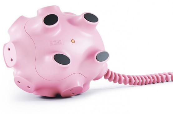 Funny Multi Snout Piggy For 17 Plugs