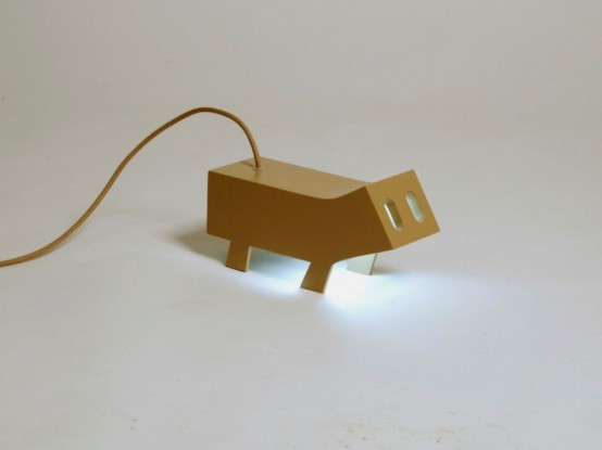 Funny Passa Cabos Lamp Inspired By Little Ferrets