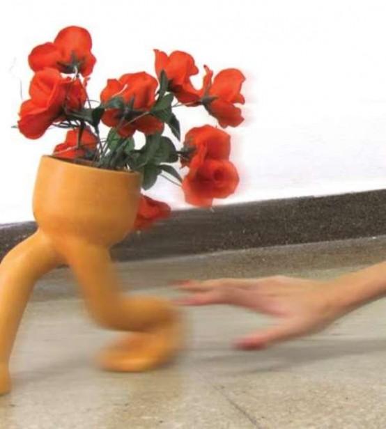 Funny Runaway Flowerpot