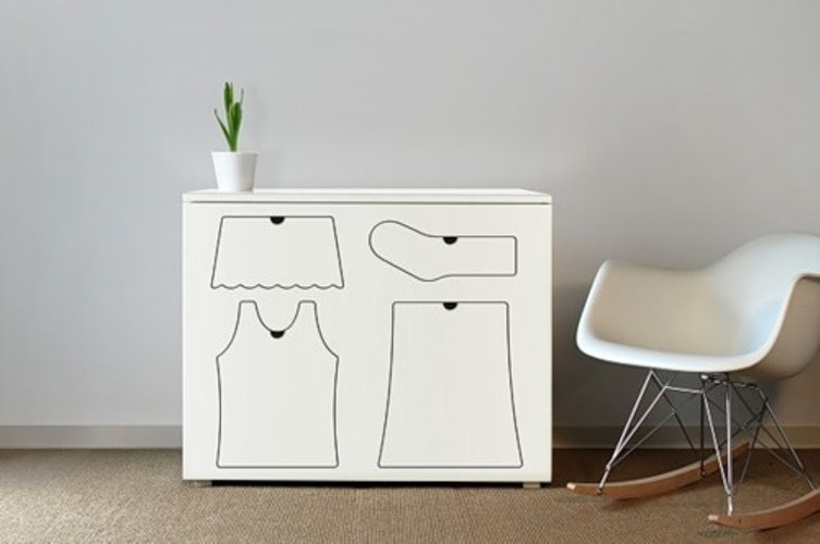 Funny White Dresser To Help Your Kid Be Organized