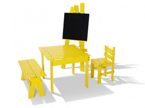 Funny Yellow Kids Furniture