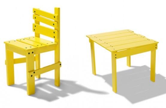 Funny Yellow Kids Furniture