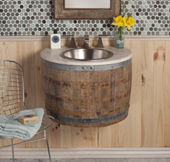 Funriture Made Of Old Wine Barrels