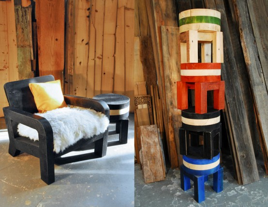 Furniture Essentials From Recycled Manhattan Timber