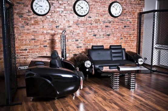 Retro Cars Inspired Furniture