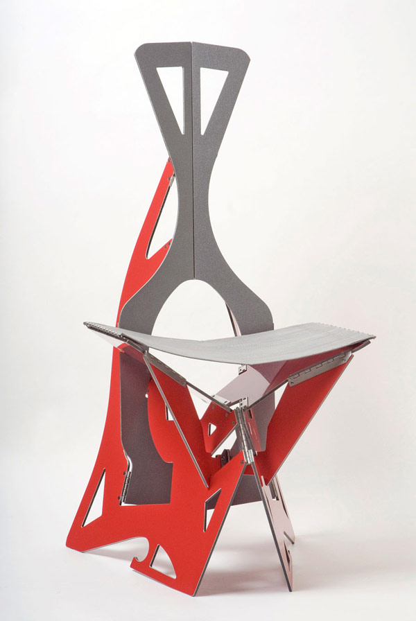 futuristic and ergonomic leaf folding chairs digsdigs
