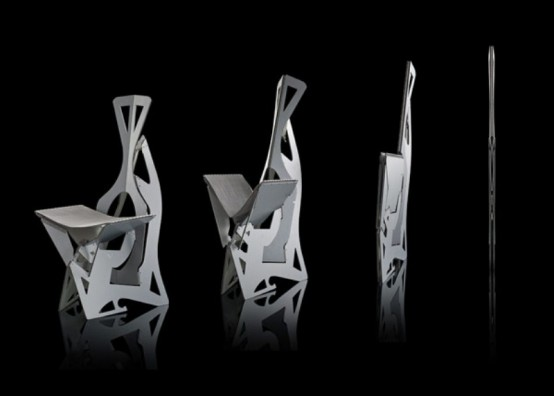 Futuristic And Ergonomic Leaf Folding Chairs