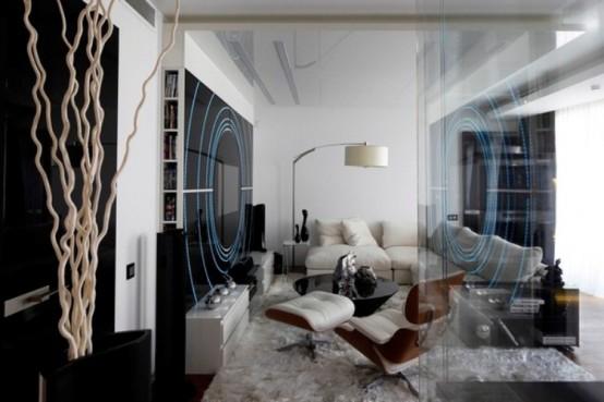 Futuristic Apartment In Space Ship Style