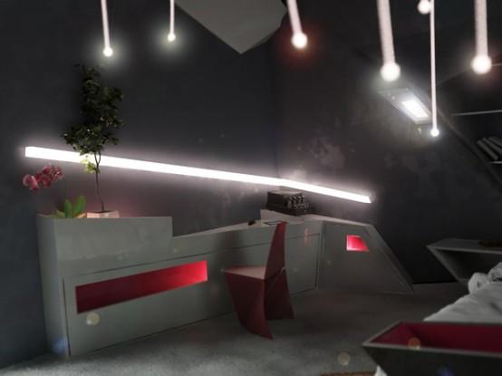 futuristic apartment interior design - digsdigs