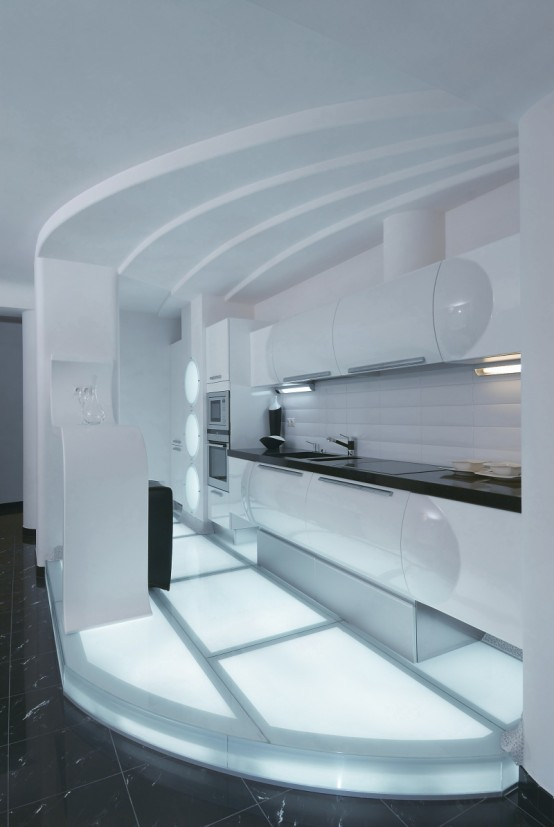 Futuristic Apartment Interior