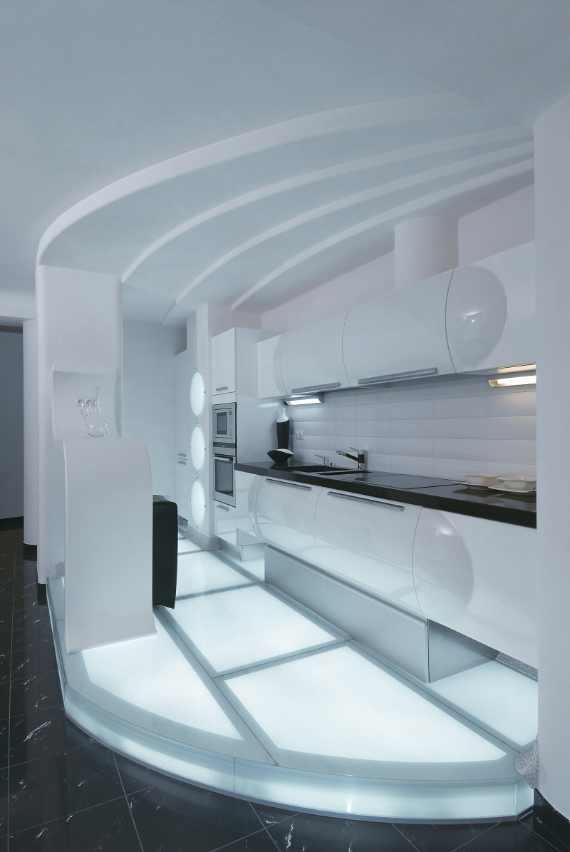 Style Kitchen Simple Futuristic The Same Time Is Quite Cozy Designers Have Done A Nice Work Of Using