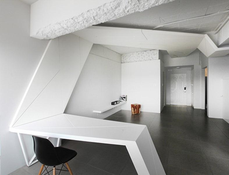 Deconstructivism Furniture Interior Design ~ Futuristic apartment with wings in its design digsdigs