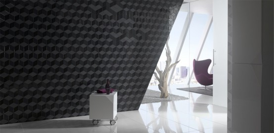 Futuristic Bathroom Wall Treatments