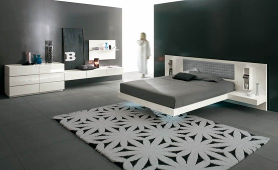 Futuristic Bedroom Set With Suspended Bed U2013 Aladino Up From Alf