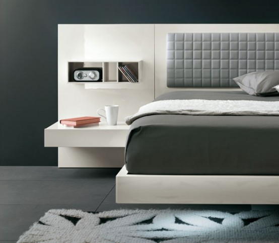 Futuristic Bedroom Set With Suspended Bed
