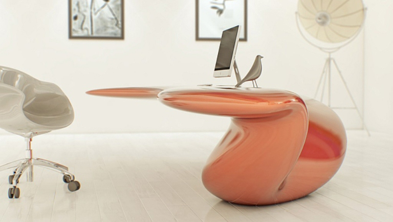 futuristic bright office desk of acryl digsdigs