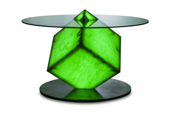 Futuristic Cupiditas Table Controlled By Smartphones And Tablets