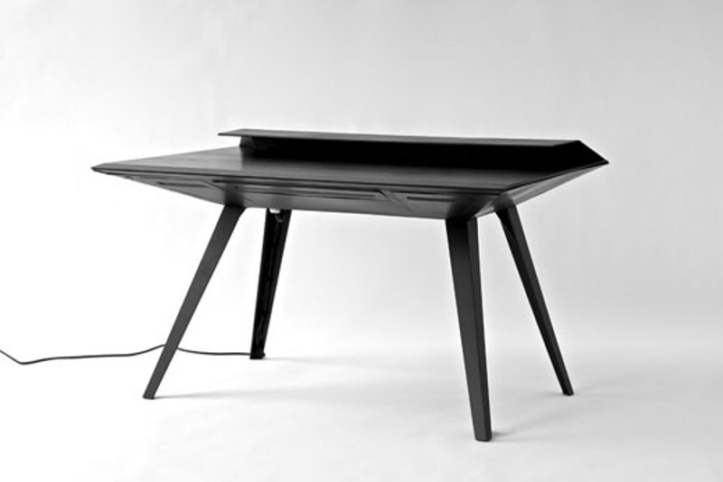 futuristic desk 117 inspired by stealth bombers digsdigs