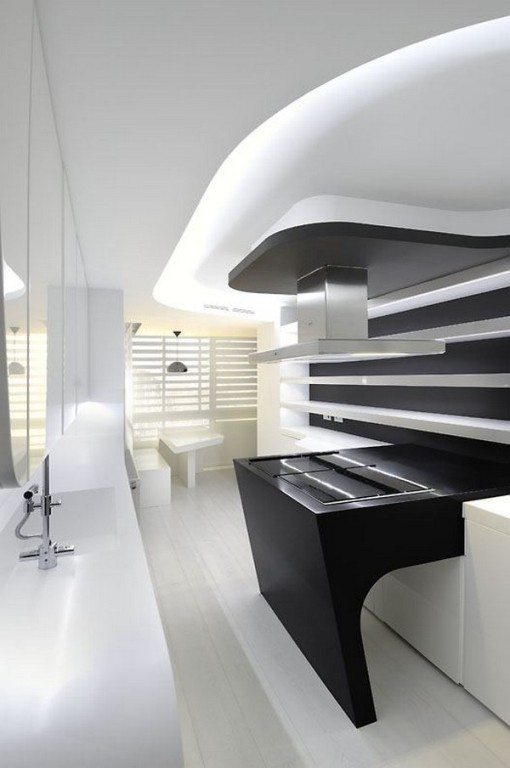 Futuristic Duplex In White Color