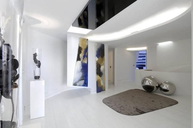 Futuristic Duplex In White Color