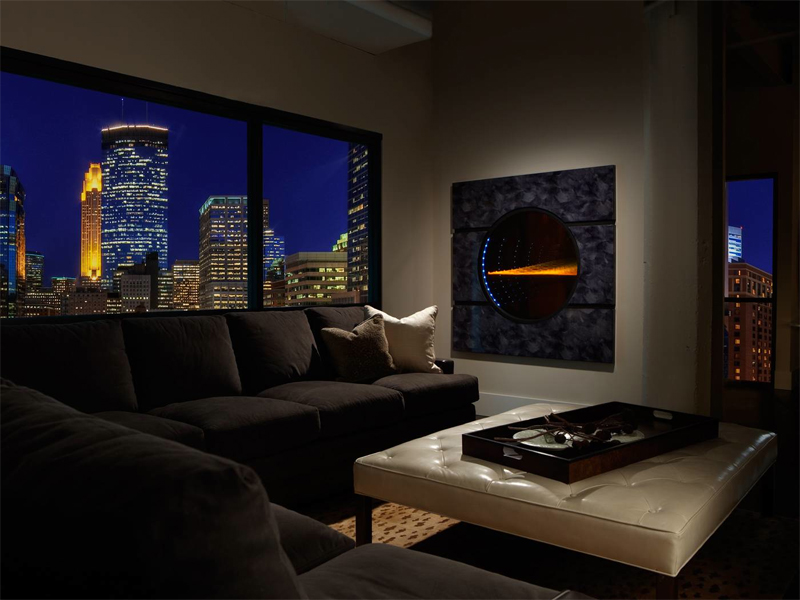 Futuristic Transparent Gas Fireplace – Solaris by Heat&Glo