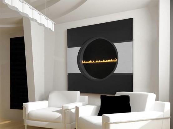 Futuristic Transparent Gas Fireplace Solaris By Heat Amp Glo