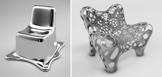 Futuristic Furniture Made Of Metal
