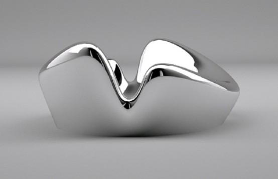 wonderful futuristic metal furniture design | Ultra Futuristic Furniture Made Of Metal - DigsDigs