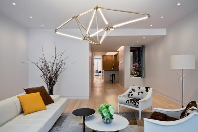 Futuristic Geometric LED Light Structure