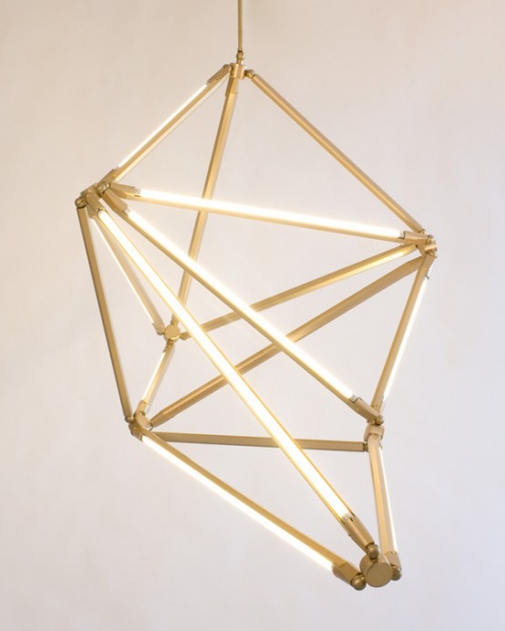 Futuristic Geometric Led Structure